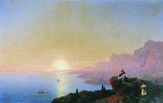 Морской залив 1842 120х191. Иван Константинович Айвазовский