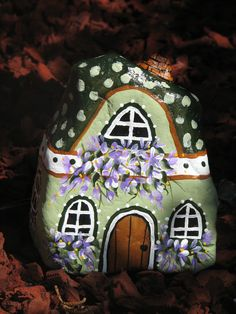Rock House. Doesn't this look a little Swiss???  SO cute.