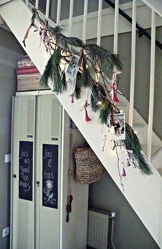 Kersttakken aan de trap