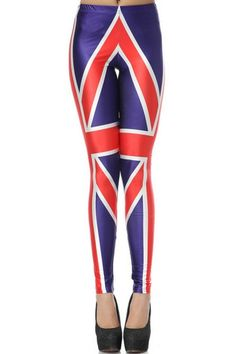 Union Jack Print Skinny Leggings OASAP.com
