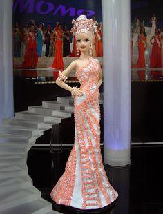 Miss New Caledonia Barbie Doll 2013