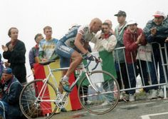 Pantani attacks out of the saddle in the 1995 Tour de France