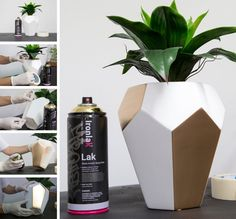 Update a previously plain vase with Ironlak spray paint!