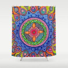 Mardi Gras Mandala Shower Curtain Mandala Shower Curtain