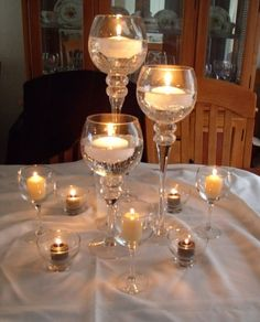1st attempt at centerpieces :  wedding black candles centerpiece diy pink reception white GEDC0455