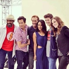 Grant Gustin, Jesse L. Martin, John Wesley Shipp, Danielle Panabaker, Candice Patton & Tom Cavanagh #TheFlash #SDCC