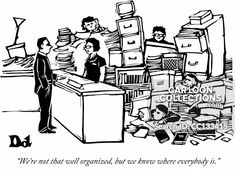 """size: Premium Giclee Print: """"We're not that well organized, but we know where everybody is."""" - New Yorker Cartoon by Drew Dernavich : Political Cartoons, Funny Cartoons, Business Cartoons, New Yorker Cartoons, Find Art, Framed Artwork, Giclee Print, Wellness, Organization"""
