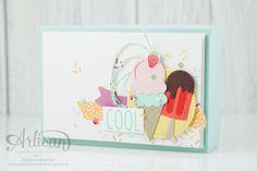 Stampin' Up! Ice Ice Baby, Kid Cupcakes, Karten Diy, Stampin Up Catalog, Stamping Up, Kids Cards, Homemade Cards, Stampin Up Cards, I Card