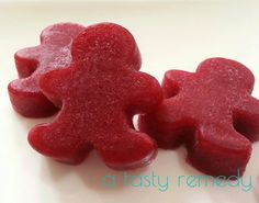 Cranberry-Apple Gummies. [1 cup fresh Cranberries, whole 1/2 cup water, 1/2 cup Apple Juice 1 Tbsp Pure Maple Syrup 4 Tbsp Beef, Great Lakes brand Unflavored Gelatin. I used all apple juice instead of water and they were too sweet. Add lemon, or more cranberry or reduce sweetener]