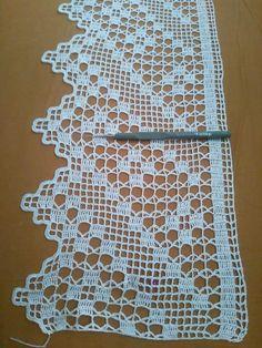 Photo from album Crochet Blanket Border, Crochet Boarders, Crochet Lace Edging, Filet Crochet, Cotton Crochet, Crochet Doilies, Crochet Stitches, Doily Patterns, Knitting Patterns