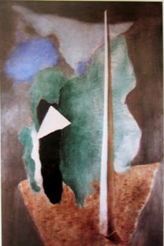 Landscape at the obelisk Joseph, Landscape, Abstract, Colors, Artwork, Painting, Summary, Scenery
