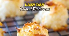 2-Ingredient Coconut Macaroons are perfectly sweet, beautifully toasted on the outside and moist and chewy on the inside. With this lazy ...