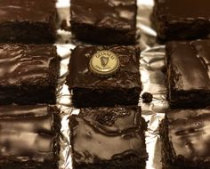 Milk chocolate Guinness brownies with stout ganache!