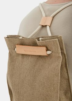 Thisispaper Pocket Bag Medium Raw Natural Pocket bag can be worn as a sack or as a shoulder bag. To transform it, simply pull the string. It features a linen lininig, one interior pocket, magnetic snaps at the top. Fashion Bags, Womens Fashion, Fashion Trends, Fashion 2018, Simple Bags, Fabric Bags, Mode Outfits, Medium Bags, Handmade Bags