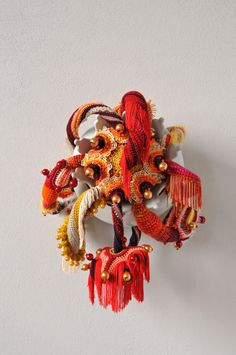 Joana Vasconcelos, Chinoiserie, 2013 – Galleria Marie-Laure Fleisch and the artist Textile Sculpture, Soft Sculpture, Textile Art, Installation Art, Art Installations, Yarn Bombing, Crochet Art, Chinoiserie, Fiber Art