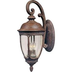 World Imports 5250-42 Sevilla Collection Wall-Mount Outdoor Sconce Rust World Imports Lighting