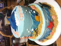 Under water cake! Happy birthday Coral