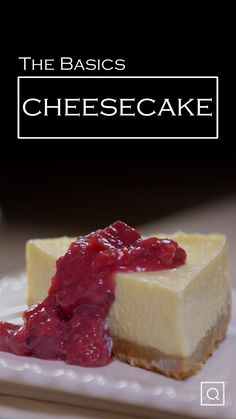 Baking a homemade cheesecake doesn't have to be difficult! This recipe for an easy cheesecake involves only 6 ingredients to make this classic dessert. Tip: make this cheesecake recipe a day ahead of time for a perfectly chilled, homemade cheesecake. Healthy Cheesecake Recipes, Basic Cheesecake, How To Make Cheesecake, Homemade Cheesecake, Best Dessert Recipes, Easy Desserts, Simple Cheesecake Recipe, Skinny Cheesecake, Lunch Recipes