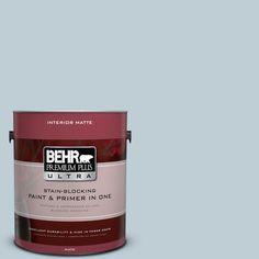 BEHR Premium Plus Ultra 1 gal. #540E-2 Cloudy Day Flat/Matte Interior Paint