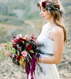 ❤️ this rustic bouquet