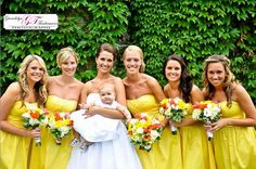 yellow bridesmaid dresses for Fall wedding