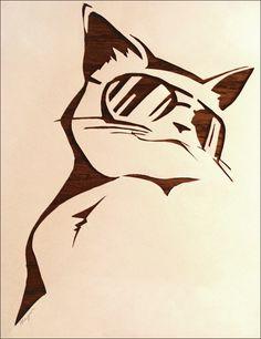 Cat Stencil by z-e-a-l-o-u-s