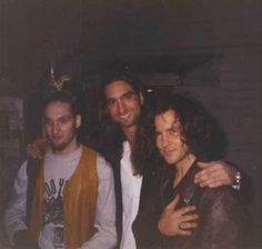 Eddie Vedder with Johnny Bacolas and Layne Staley. January 8, 1995.