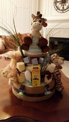 Diaper cake made by me and my daughter Denise.