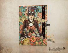 Postal de aniversário com os papéis Graphic45 da colecção Steampunk Spells  Birthday Card, made with Graphic45 papers from de steampunk Collection