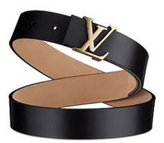Louie Vuitton Black Leather Belt-buying this one this week...HOT!