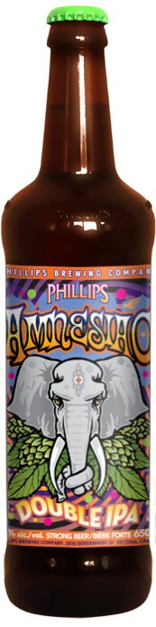 Amnesiac  Uh, we forget...Oh Yeah, this is a big beer. Mind blowing amounts of hops give this beer tons of flavour and aroma. Not for the faint of heart. The bigger, meaner cousin to the Hop Circle IPA. Alcohol 8.5% Size 650ml CSPC +172163 Pair with: smoked brisket, grilled lamb, Gorgonzola or Cambozola cheeses Bronze 2012, Silver 2007, Bronze 2005, Canadian Brewing Awards