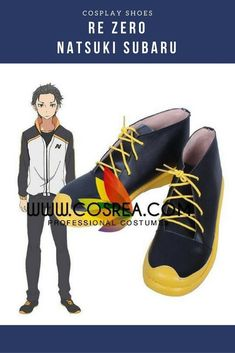 Re ZERO Natsuki Subaru Cosplay Shoes