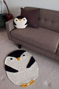 Penguin rug and pillow inspiration