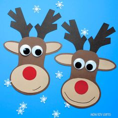 Paper Reindeer Craft With Printable Template – Christmas Craft - Rentier basteln Christmas Crafts For Kids To Make, Christmas Activities For Kids, Preschool Christmas, Craft Projects For Kids, Easy Crafts For Kids, Kids Christmas, Christmas Tables, Simple Crafts, Nordic Christmas