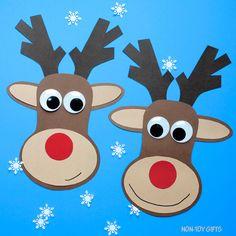 Paper reindeer craft for kids