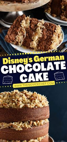 You don't want to miss out on this delicious Disney throwback recipe on Christmas! Thanks to a couple of surprise steps, this German Chocolate Cake light, fluffy, and moist. The coconut pecan frosting is the perfect finish to this classic holiday dessert! Save this pin!