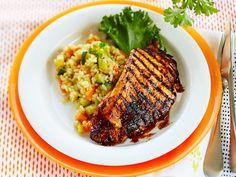 Grill Pan, Grilling Recipes, Summer Recipes, Risotto, Nom Nom, Good Food, Pork, Beef, Chicken