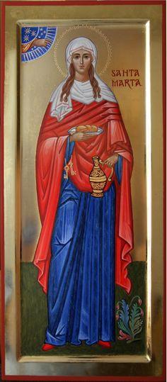 """St. Martha of Bethany/Santa Marta de Betânia,  irmã de São Lázaro e de Maria de Betânia. """"Sim, Senhor, eu creio firmemente que tu és o Messias, o Filho de Deus,  que devia vir ao mundo""""."""