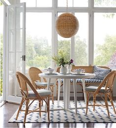 Bistro dining chairs in a beautiful breakfast area - Serena Kitchen Interior Inspiration, Bamboo Dining Chairs, French Bistro Chairs, Parisian Decor, Cafe Chairs, Kitchen Decor, Kitchen Nook, Dining Rooms, Dining Area