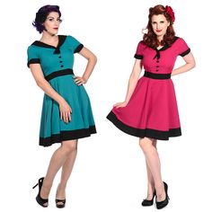 Womens New Nautical Sailor Rockabilly 1950s Retro Vintage Pinup Dress #Banned #50sRockabilly #Party