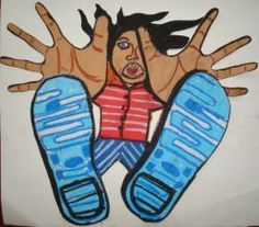 Kid's Art Project - Free-Fall Foreshortening http://lauraspector.hubpages.com/hub/Kids-Art-Project---Falling-for-Foreshortening#