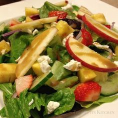 Spring Pine-Apple Mixed Salad w/ Portuguese Fresh Cheese www.themuttskitchen.com