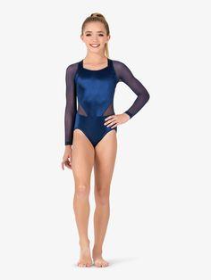 Plume Dance Leotards Dark navy blue shiny Lycra  age 8 child costume