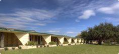 Carter Walbridge Hawkins Seminar Building. 1941. Florida Southern College. 1940-58. Lakeland, Florida. Frank Lloyd Wright
