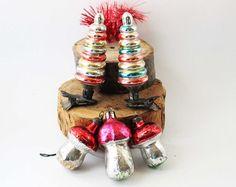 Paddestoel ornamenten Mushroom decoraties door oldUSSRvintage
