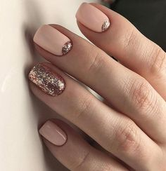 Nude nails, while popular, can be a bit of a snooze, but not with these cool nail designs and color accents. #nudenails #nailideas #nails