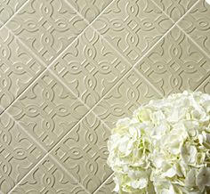 Ann Sacks Michael S. Smith Labyrinth modern fretwork, also in bright Amalfi yellow gloss