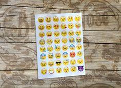 Emoji Sticker Bogen - 48 Stück - WhatsApp Emoji, Sticker, Etsy, Frame, Home Decor, Arch, Christmas Presents, Picture Frame, Decoration Home