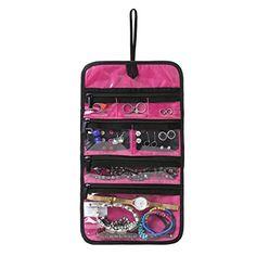 BAGSMART Travel Jewelry Organizer Storage Cases Jewelry Box for
