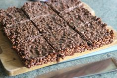 Double Choc Rice Krispie Squares Rice Krispies, Squares, Sweet Treats, Sugar, Easy, Desserts, Food, Tailgate Desserts, Sweets